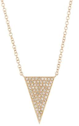Ef Collection 14K Yellow Gold Jumbo Triangle Diamond Pave Necklace - 0.24 ctw