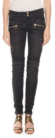 BalmainBalmain Stretch Skinny Moto Jeans