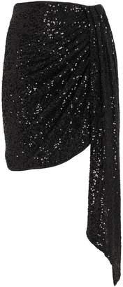 Jonathan Simkhai Draped Sequin Mini Skirt
