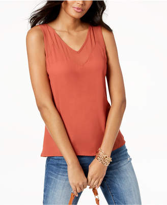 INC International Concepts I.n.c. Contrast Sheer-Trim Top, Created for Macy's