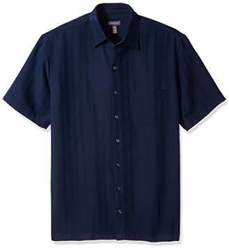 Van Heusen Men's Size Big and Tall Poly Rayon Short Sleeve Button Down Shirt