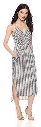 BCBGeneration Women's Printed Midi Faux-Wrap Dress