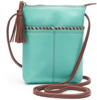 Ili ili Leather Two-Tone Mini Crossbody Bag