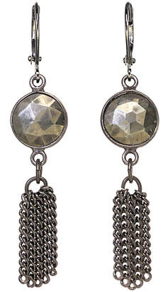 Rachel Reinhardt Plated Silver Pyrite Drop Earrings