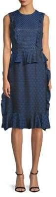 Lanvin Ruffled Sheath Dress