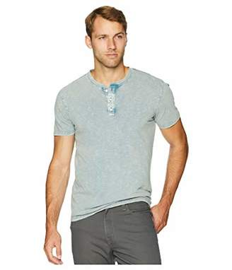 Lucky Brand Men's Casual Short Sleeve Sugar Magic Henley Tee