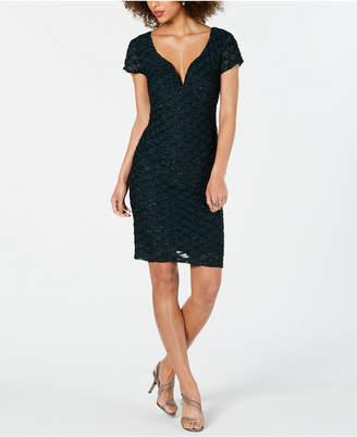 Connected Metallic-Detail Dress