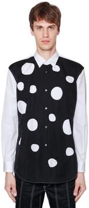 Comme des Garcons Polka Dot Cutouts Cotton Poplin Shirt