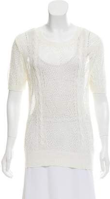 Frame Sheer Open Knit Top w/ Tags