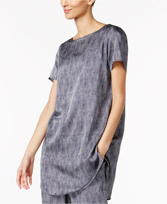 Eileen Fisher Silk-Blend Boat-Neck Tunic, Regular & Petite $158 thestylecure.com