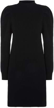 Sandro Pleated Shoulder Knitted Dress