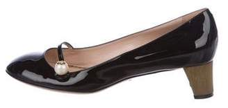 Gucci Patent Leather Mid-Heel Pumps