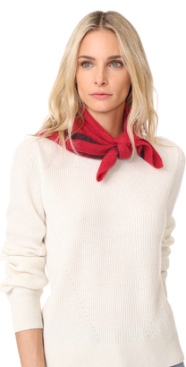 White + Warren Cashmere Tipped Neck Scarf $120 thestylecure.com