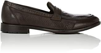 Barneys New York Men's Washed Leather Penny Loafers