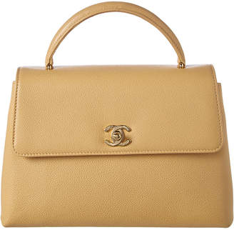 Chanel Beige Caviar Leather Kelly