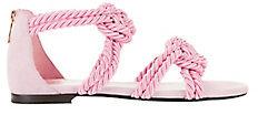 Maison Ernest Sybille Rope Pink Sandals