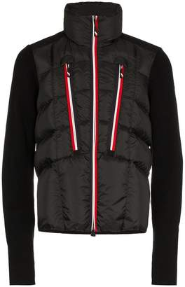 Moncler quilted feather down zip jacket