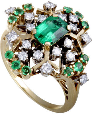 Mikimoto Heritage  18K Two-Tone 1.03 Ct. Tw. Diamond & Emerald Ring