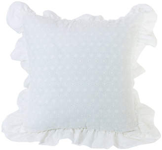 "Hiend Accents Ruffled Flange Eyelet 18""x18"" Pillow"