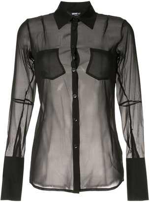 Yang Li sheer shirt