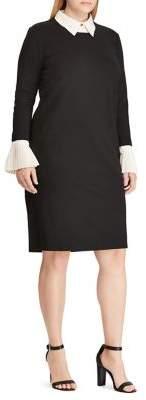 Lauren Ralph Lauren Plus Layered Ponte Shift Dress