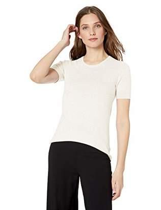 Lark & Ro Amazon Brand Women's Short Sleeve Crew Neck Pima Cotton Sweater