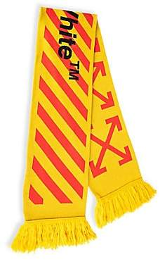 Off-White Men's Arrow Intarsia Wool-Blend Scarf