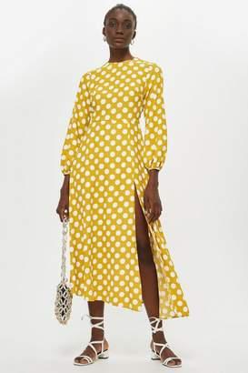 Topshop Polka Dot Midi Dress