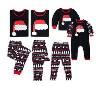 Happyjiu Christmas Holiday Family Matching Sleepwear Pajamas Set Couples Pajamas (L, )