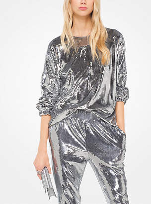 Michael Kors Sequined Matte-Jersey Pullover