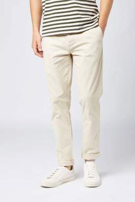 Next Mens Oatmeal Straight Fit Stretch Chinos