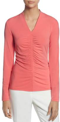 T Tahari Long-Sleeve Ruched Top