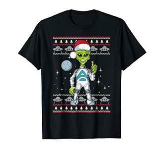 Alien With Santa Hat Ugly Christmas Pajamas T Shirt