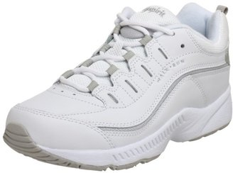 Easy Spirit Women's Romy White/Light Grey Leather Sneaker 9.5 N (AA) $51.71 thestylecure.com