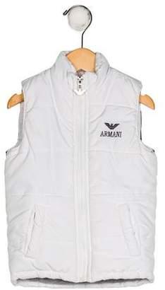 Giorgio Armani Baby Boys' Down Mock Neck Vest