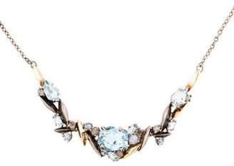 Alexis Bittar Topaz & Diamond Pendant Necklace
