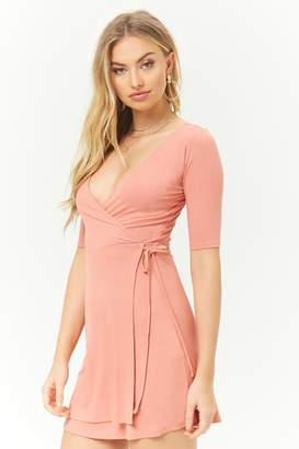Forever 21 Ribbed Surplice Dress