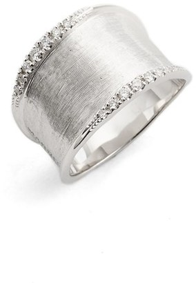 Women's Marco Bicego Lunaria Small Diamond Band Ring $2,530 thestylecure.com