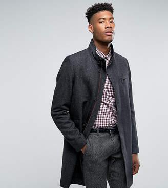Ted Baker T For Tall funnel neck wool overcoat