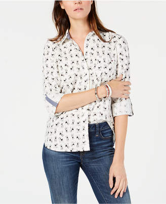 Tommy Hilfiger Printed Button-Front Shirt