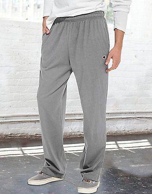 Champion Authentic Men's Open Bottom Jersey Pants Men's Gym Clothes