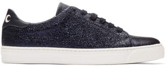 Anya Hindmarch Navy Metallic Eyes Sneakers