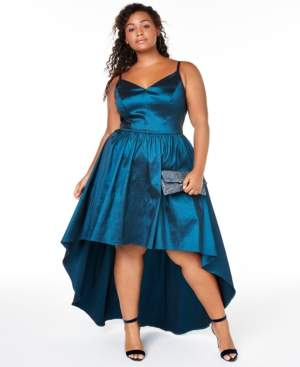 B. Darlin Trendy Plus Size High-Low Dress