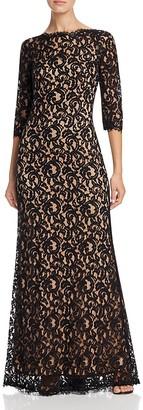 Tadashi Shoji Three-Quarter Sleeve Lace Gown $388 thestylecure.com