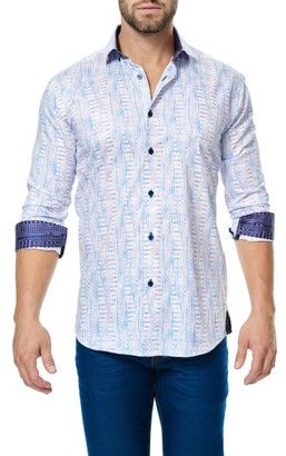 Men's Maceoo Class Trim Fit Print Sport Shirt $158 thestylecure.com