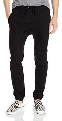 Akademiks Men's Nollie Solid Twill Jogger