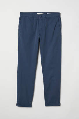 H&M Cotton Chinos Slim fit - Blue