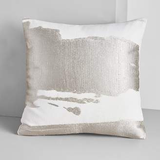west elm Ink Abstract Pillow Cover - Platinum