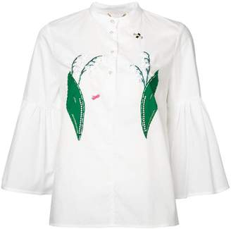 Muveil lily of the valley appliqué blouse