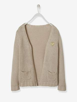 Vertbaudet Long, Thick Knit Cardigan for Girls